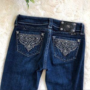 Miss me jpw5123sk-4R skinny dark wash jeans 27